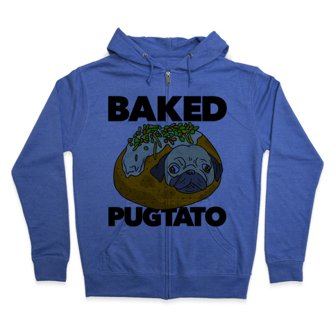 Baked Pugtato Zip Hoodie