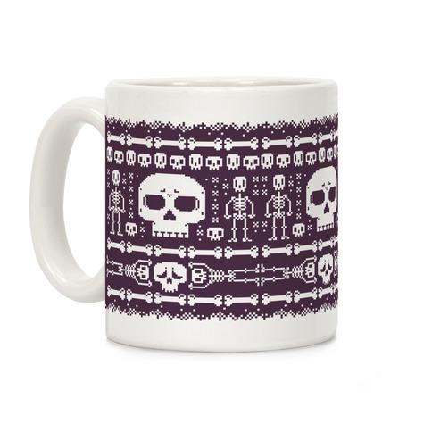 Ugly Skeleton Sweater Pattern Coffee Mug