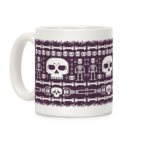 Ugly Skeleton Sweater Pattern Coffee Mug