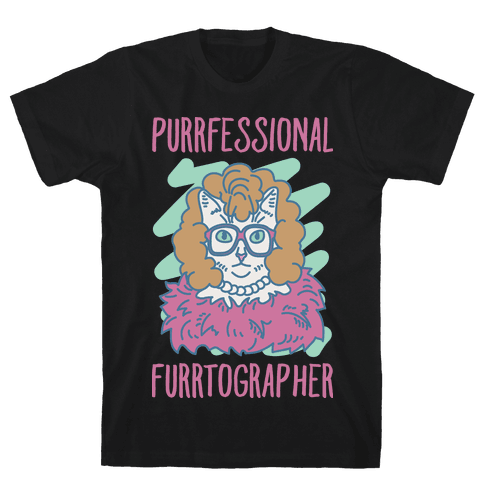 Purrfessional Furrtographer Mens T-Shirt