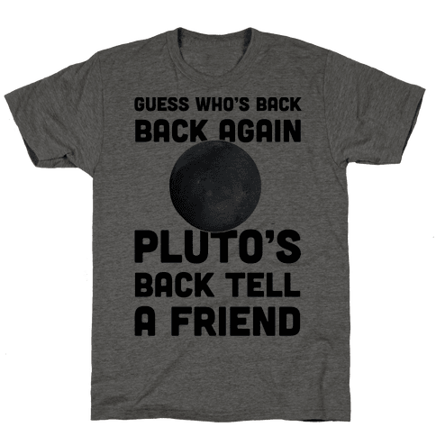 Guess Who's Back Back Again Pluto's Back Tell A Friend