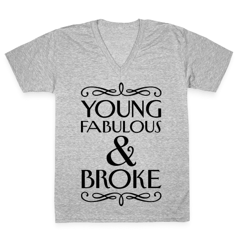 Young Fabulous And Broke V-Neck Tee Shirt