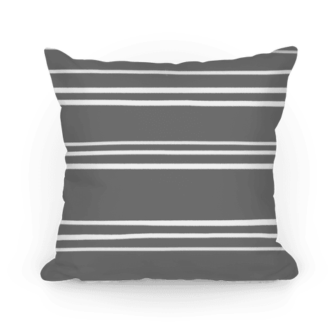 Gray Stripe Pattern Pillow