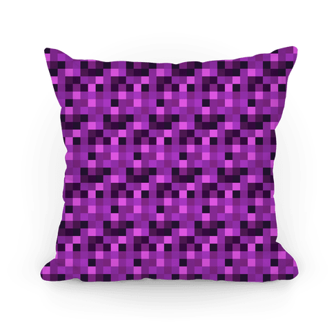 Purple Gamer Pixel Pattern