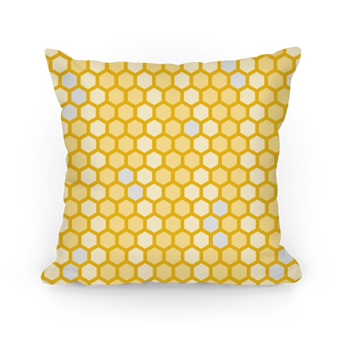 Yellow Geometric Honeycomb Pattern