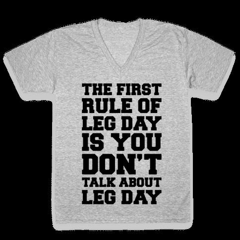 Leg Day Club V-Neck Tee Shirt