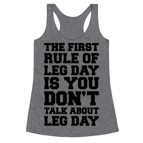 Leg Day Club Racerback Tank Top
