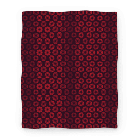 Vintage Flower Pattern Blanket (Red) Blanket