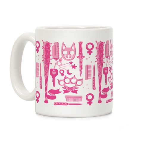 Feminist Fighter Arsenal Pink Coffee Mug
