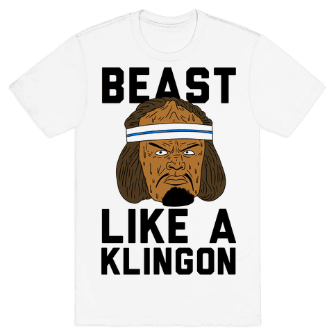 Beast Like a Klingon Mens T-Shirt