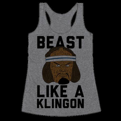 Beast Like a Klingon Racerback Tank Top