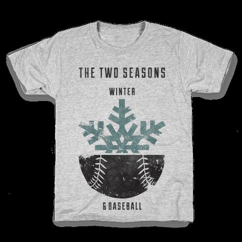 Winter and Baseball Kids T-Shirt