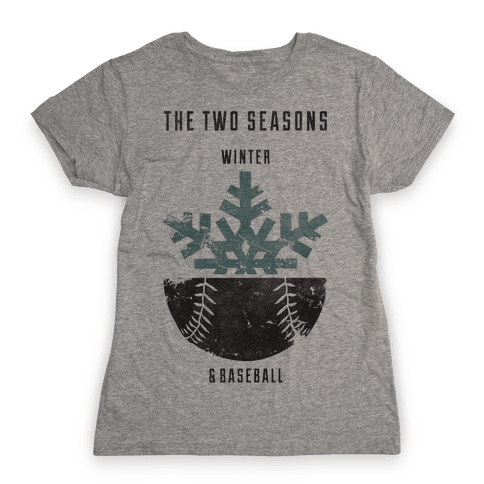 Winter and Baseball Womens T-Shirt