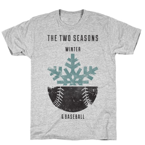 Winter and Baseball T-Shirt