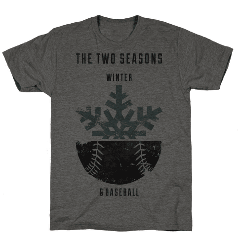Winter and Baseball Mens T-Shirt