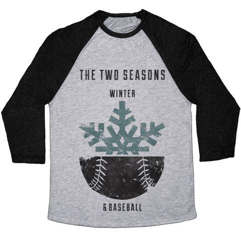 Winter and Baseball Baseball Tee