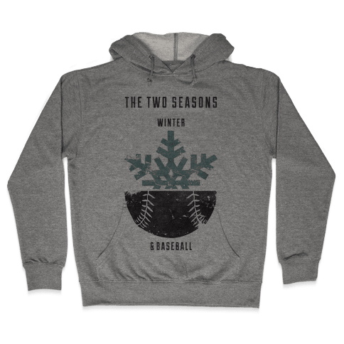 Winter and Baseball Hooded Sweatshirt
