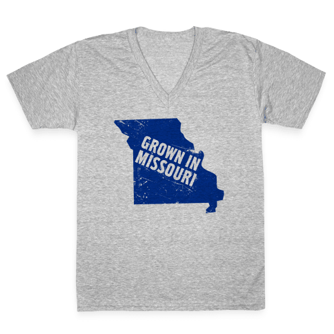 Grown in Missouri V-Neck Tee Shirt