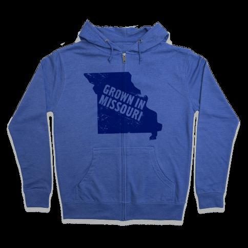Grown in Missouri Zip Hoodie