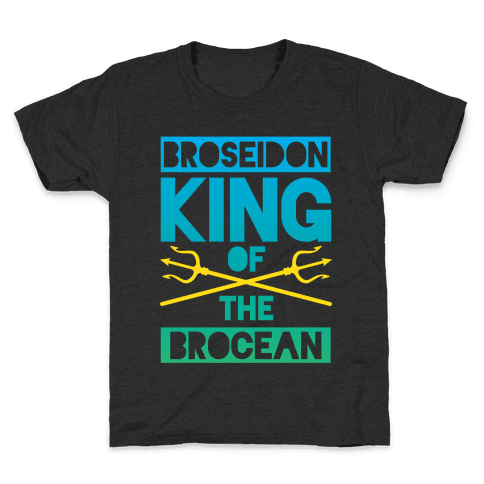 Broseidon King Of The Brocean Kids T-Shirt