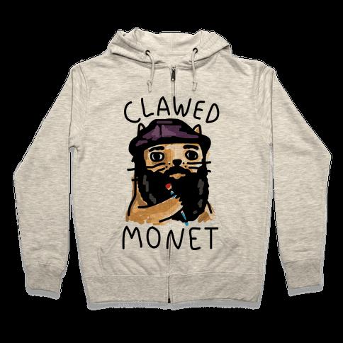 Clawed Monet Zip Hoodie