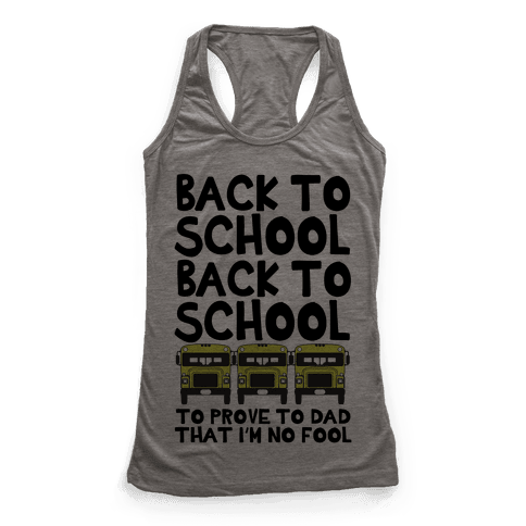 Back to School Racerback Tank Top