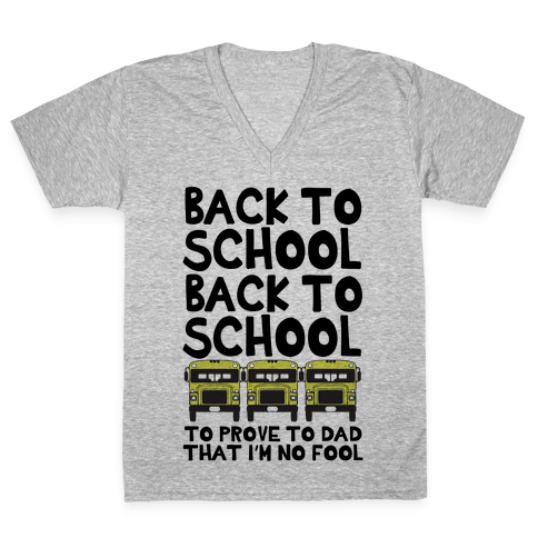 Back to School V-Neck Tee Shirt