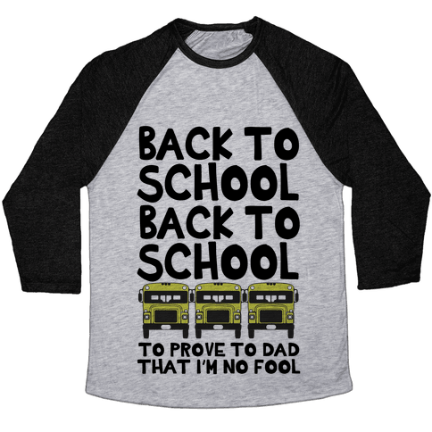 Back to School Baseball Tee