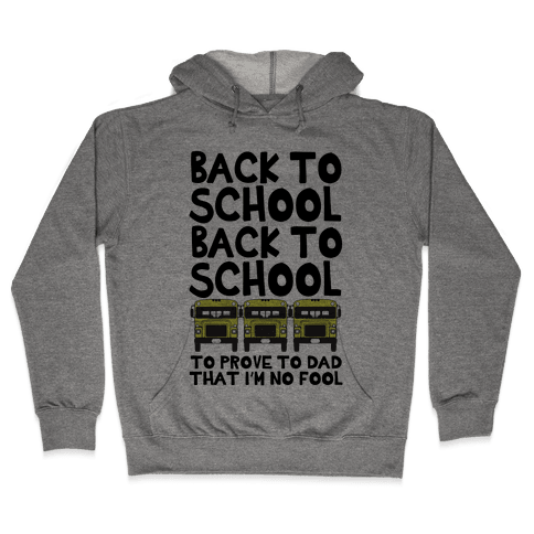 Back to School Hooded Sweatshirt