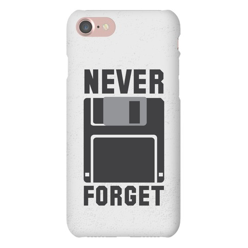 Never Forget The Floppy Phone Case