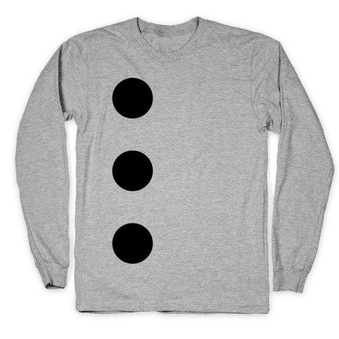3-Hole Punch Costume Long Sleeve T-Shirt