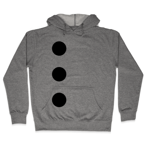 3-Hole Punch Costume Hooded Sweatshirt