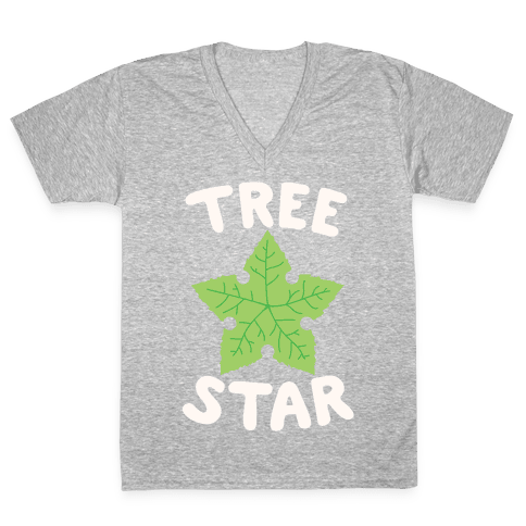 Tree Star V-Neck Tee Shirt