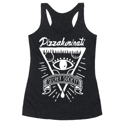 Pizzaluminati Secret Society Racerback Tank Top
