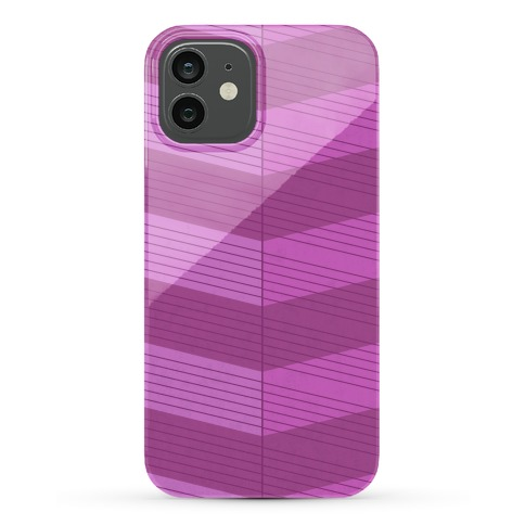 Stripes on Stripes Pattern (Purple) Phone Case