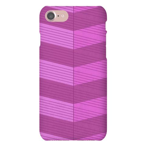 Stripes on Stripes Pattern (Purple) Phone Case