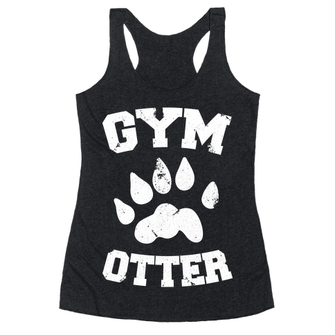 Gym Otter Racerback Tank Top