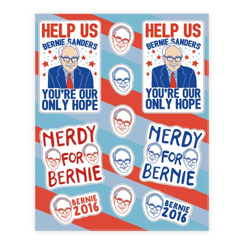 Bernie Sanders Sticker and Decal Sheet