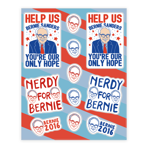Bernie Sanders Sticker/Decal Sheet
