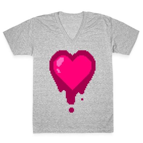 Bleeding Heart V-Neck Tee Shirt