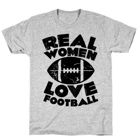 Real Women Love Football Mens T-Shirt