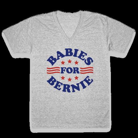 Babies For Bernie V-Neck Tee Shirt