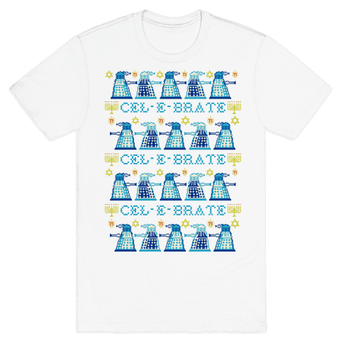 Dalek Hanukkah Sweater Mens T-Shirt