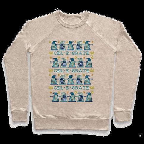 Dalek Hanukkah Sweater Pullover