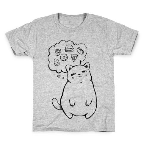 Tubby Cat Food Dreams Kids T-Shirt