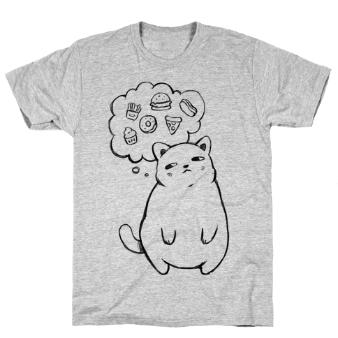 Tubby Cat Food Dreams Mens T-Shirt