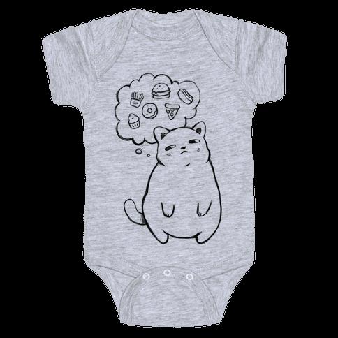 Tubby Cat Food Dreams Baby Onesy