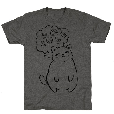 Tubby Cat Food Dreams T-Shirt