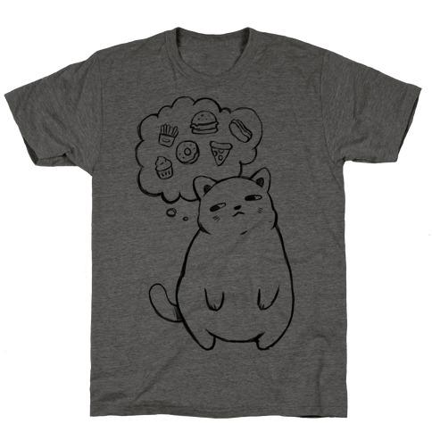 Tubby Cat Food Dreams T-Shirt