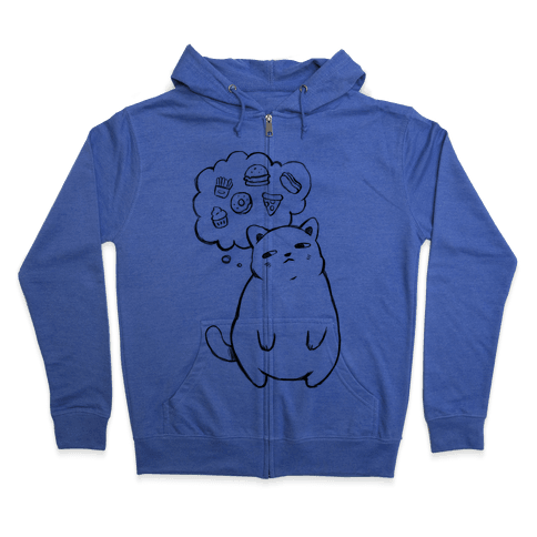 Tubby Cat Food Dreams Zip Hoodie